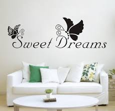 wall sticker quotes english quote saying vinyl romantic star black butterfly