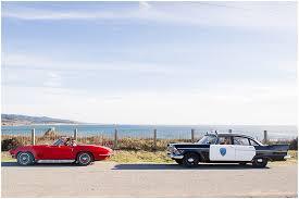 Half Moon Bay Engagement s Antique Cop Car Session