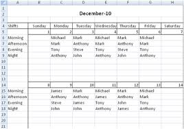 Employee Schedule Excel Template Free Employee Shift Scheduling Spreadsheet
