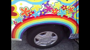 hippie volkswagen drawing diy let u0027s paint a hip hippy hippie van youtube