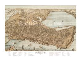 Portland Maps Online by Portland Maine In 1876 Bird U0027s Eye View Map Aerial Panorama