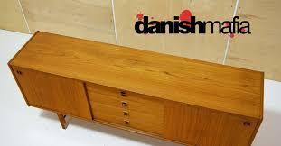 mid century danish modern teak credenza sideboard buffet danish