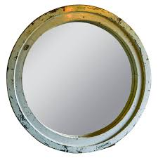 Mirror For Sale Monumental French Circular Wooden Industrial Mirror For Sale At