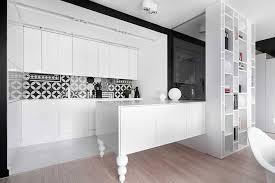 interior design in black and white colors