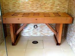 Outdoor Benches Canada Bench Wooden Shower For House Teak Wood Reviews Waterproof Canada
