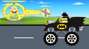 childrens monster truck videos minions helicopter vs batman monster truck children cartoon