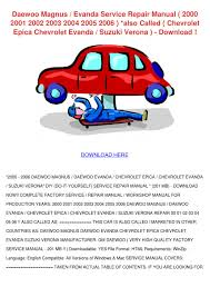 daewoo magnus evanda service repair manual 20 by temika jawad issuu
