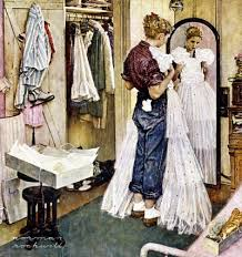 prom dress norman rockwell saturday evening post cover 1949