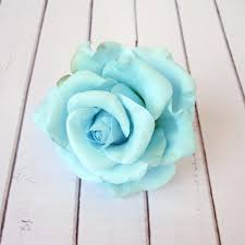 light blue flowers light blue hair pin aquamarine flower hairpin
