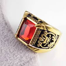 gold male rings images Brand jewelry vintage antique gold color crystal ring for men jpeg