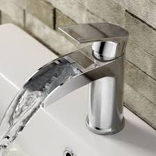 avis ii wall mounted waterfall basin mixer tap mixer taps basin
