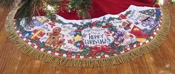 cross stitch fos ingredients tree skirt