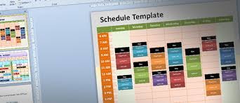 Meeting Schedule Template Excel Editable Schedule Template For Powerpoint