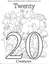 preschool printable fall coloring pages with number 20 page