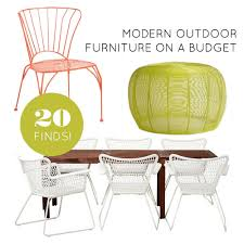 modern outdoor table and chairs 20 finds for affordable and modern outdoor furniture