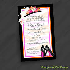big hat brunch invitations flower hat n heels invitations for by prettywithinkinvites
