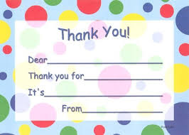 amazon com kids blue dots thank you cards fill in style 8 pack