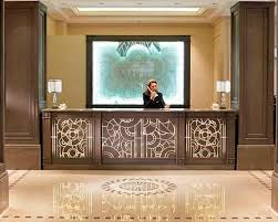 Security Front Desk Wooden Reception Desk Inclusion Lamellux Id Project
