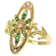 eclectic lion ring holder images Charming victorian gold ring with diamonds and green stones jpg