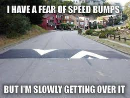Speed Bump Meme - fear of speed bumps funny pics memes captioned pictures