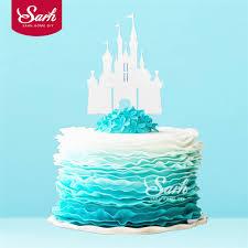 castle cake topper 3pcs bling gold sliver princess castle cake topper with