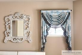 glacial swan swag valance curtains