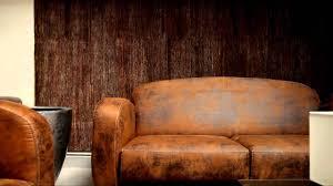 canapé en cuir marron ensemble fauteuil et canapé imitation cuir vieilli modèle