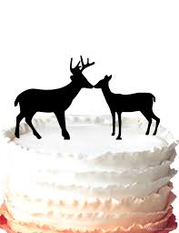 buck and doe cake topper other cake topper