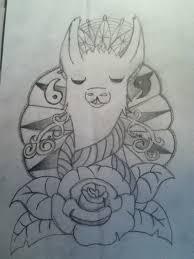 llama tattoo design by imp0ssibear on deviantart