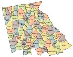 county map ga map of and county map