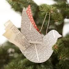 2012 Ornament Exchange Inkablinka - a peek inside the new greenhouse bird ornaments recycled books