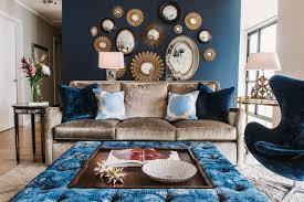 Dark Blue Living Room by Cool Down Your Design With Blue Velvet Furniture Hgtv U0027s