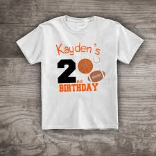 themed t shirts sports birthday themed t shirt 2nd birthday football