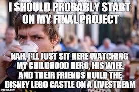Senior In College Meme - lazy college senior memes imgflip