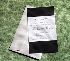 Black Invitation Card Professional Black And White Wedding Invitation Card Emuroom