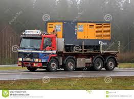 volvo truck fl retro volvo fl10 320 truck hauls a compressor editorial stock
