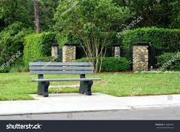 view park bench bus stop on stock photo 413889301 shutterstock