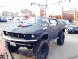 Black 69 Mustang Fastback Saw A Lifted Matte Black U002769 Mustang Near Akron Oh The Other Day