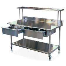 doughnut glazing prep table stainless steel warming on
