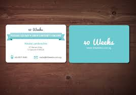 playful name card design for 40 weeks by mnm design