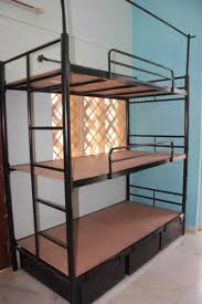 3 Tier Bunk Bed Oliver Black 3 Tier Bunk Bed Ply Base With Storage Rs 21000