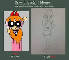 Powerpuff Girls Meme - powerpuff girl blossom draw this again meme by iamdying on deviantart