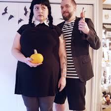 coolest diy wednesday addams plus size halloween costume idea