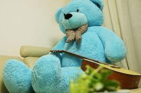 big teddy 78 blue teddy 6 5 ft stuffed