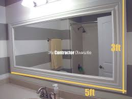 How To Make A Frame For A Bathroom Mirror by Frame A Bathroom Mirror The Contractor Chronicles