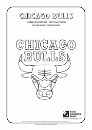 chicago bulls u2013 nba basketball teams logos coloring pages cool