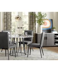 callisto marble round dining set 5 pc dining table u0026 4 side