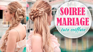 coiffure pour mariage cheveux mi tuto coiffure soirée mariage rapide et facile à faire soi même