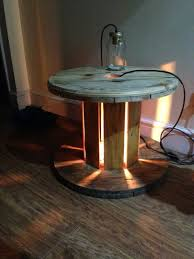 cable drum table with center light pinteres