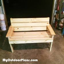 Free Wood Park Bench Plans by Diy Park Bench Myoutdoorplans Free Woodworking Plans And